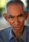 Gamal man i Mandalay Fotografering för Bildbyråer