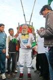 Gamal man på den Hyderabad 10K körningshändelsen Arkivbilder