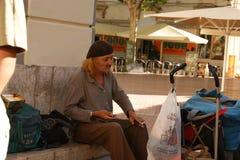 Gamal man som Dali Royaltyfri Bild