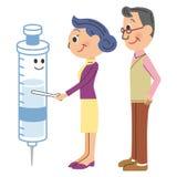 gamal man som vaccineras Royaltyfri Foto