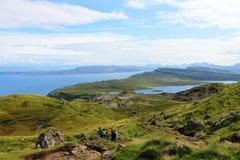 Gamala mannen av Storr, ö av Skye i Skottland Royaltyfri Fotografi
