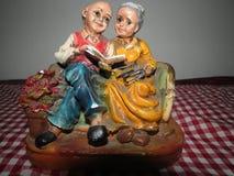 Gamala mannen och den gamla kvinnan Arkivbilder
