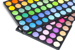 Gamas de colores del sombreador de ojos Fotos de archivo libres de regalías