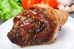 Gamba al forno della carne di maiale Fotografia Stock Libera da Diritti