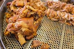 Gamba brasata della carne di maiale Immagini Stock