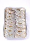 Gamba de los mariscos crudos de Shrim Imagenes de archivo