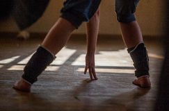 Gamba del ballerino Immagini Stock Libere da Diritti