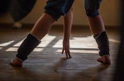 Gamba del ballerino Fotografie Stock
