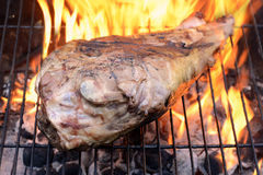 Gamba del barbecue dell'agnello Fotografie Stock Libere da Diritti