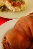 Gamba del porco con curry Fotografie Stock