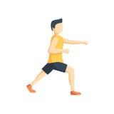 Gamba della flessione di arti marziali dell'uomo con il pugno illustrazione vettoriale