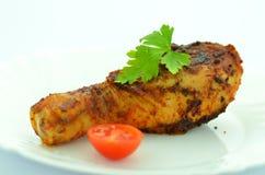 Gamba di pollo fritto deliziosa Fotografia Stock
