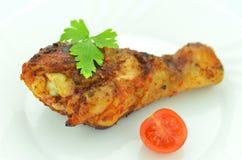 Gamba di pollo fritto deliziosa Immagine Stock Libera da Diritti
