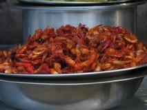Gamba frita para la venta en Malekhu Fotos de archivo libres de regalías