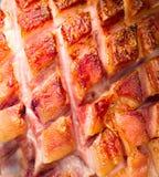 Gamba fritta della carne di maiale Fotografie Stock