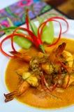 Gamba roja del curry Foto de archivo libre de regalías