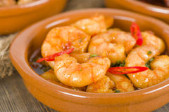 Gambas Pil Pil Royalty Free Stock Photo