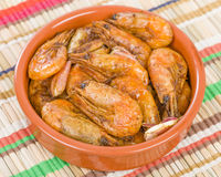 Gambas Pil Pil (Sizzling prawns) Royalty Free Stock Photography