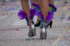 Gambe del ballerino di carnevale Fotografie Stock Libere da Diritti