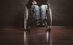 Gambe del disabile fotografia stock libera da diritti