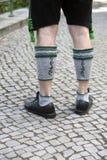 Gambe dell'uomo bavarese Immagini Stock Libere da Diritti