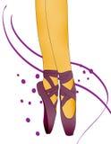 Gambe della ballerina Immagini Stock Libere da Diritti