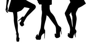 Gambe della donna Fotografia Stock