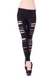 Gambe della donna con le calze Immagini Stock Libere da Diritti