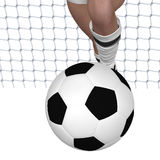 Gambe della ragazza di calcio illustrazione di stock