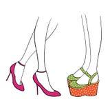 Gambe delle donne in scarpe illustrazione di stock