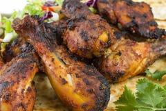 Gambe di pollo di Tandoori Fotografie Stock Libere da Diritti