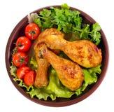 Gambe di pollo fritto Fotografia Stock