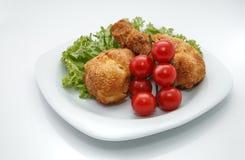 Gambe di pollo fritto succose immagini stock