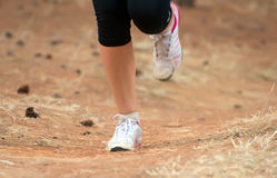 Gambe femminili durante l'allenamento Immagine Stock Libera da Diritti