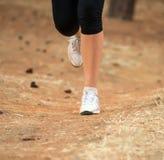 Gambe femminili durante l'allenamento Fotografie Stock Libere da Diritti