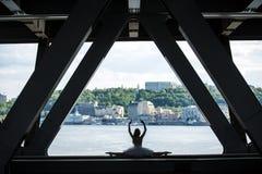 Gambe potate dell'immagine della ballerina graziosa dentro Immagine Stock Libera da Diritti