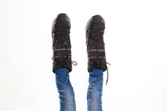 Gambe in stivali lunari immagini stock libere da diritti