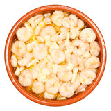 Gamberetti con aglio Immagini Stock