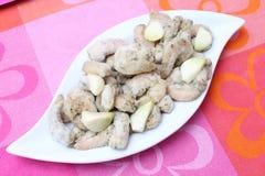 Gamberetti congelati con aglio Immagini Stock Libere da Diritti