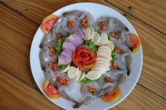 Gamberetti freschi pronti da mangiare Fotografie Stock