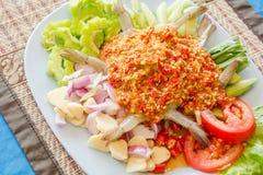 gamberetto crudo e salsa piccante Immagine Stock