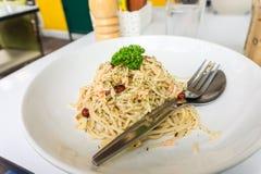 Gamberetto degli spaghetti fotografie stock