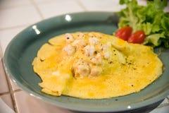 Gamberetto dell'omelette Immagine Stock