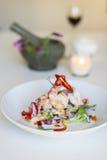 Gamberetto della calce della noce di cocco, cucina tailandese Fotografia Stock