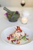Gamberetto della calce della noce di cocco, cucina tailandese Fotografia Stock Libera da Diritti