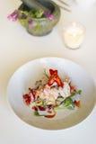 Gamberetto della calce della noce di cocco, cucina tailandese Immagine Stock Libera da Diritti
