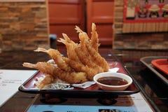 Gamberetto della tempura 9 pezzi immagini stock libere da diritti
