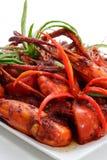 Gamberetto dolce del peperoncino rosso Immagini Stock Libere da Diritti