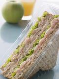 Gamberetto Marie Rosa e panino dell'insalata Fotografie Stock