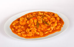 Gamberetto in salsa Immagini Stock